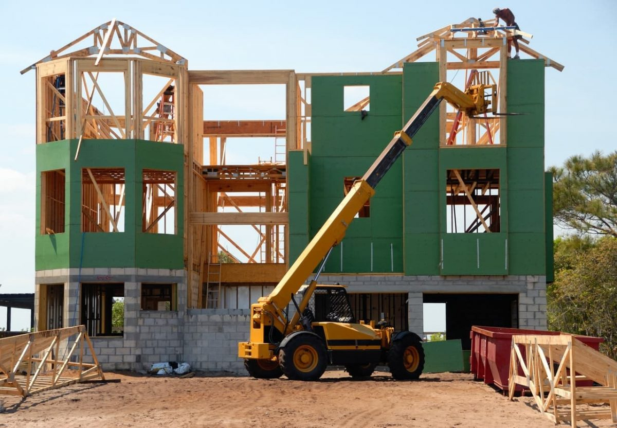 A building under construction.